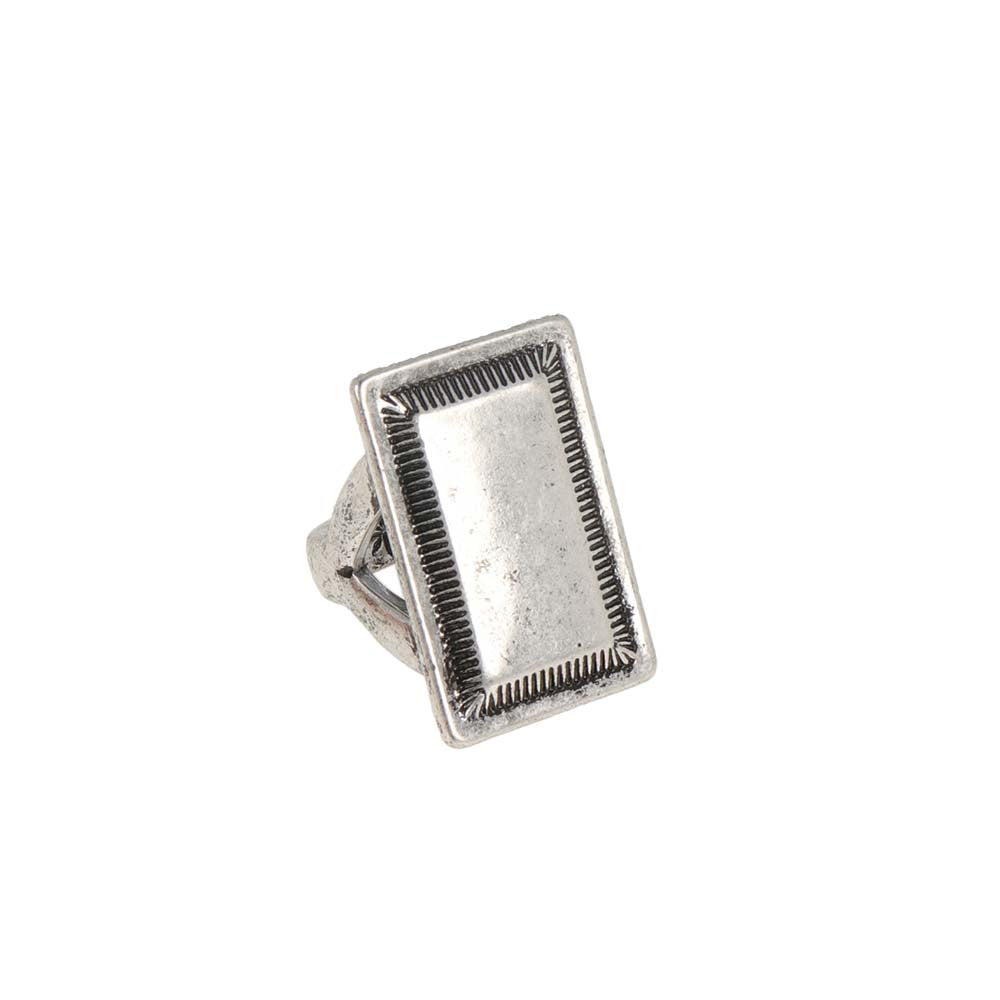Native Style Square Ring - osewaya