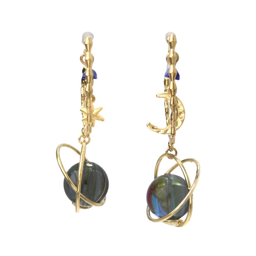 Celestial Ornament Drop Stone Invisible Clip On Earrings - osewaya