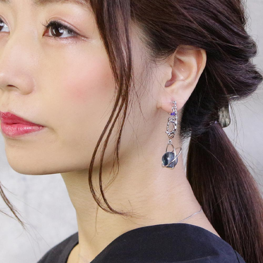 Celestial Ornament Drop Stone Invisible Clip On Earrings