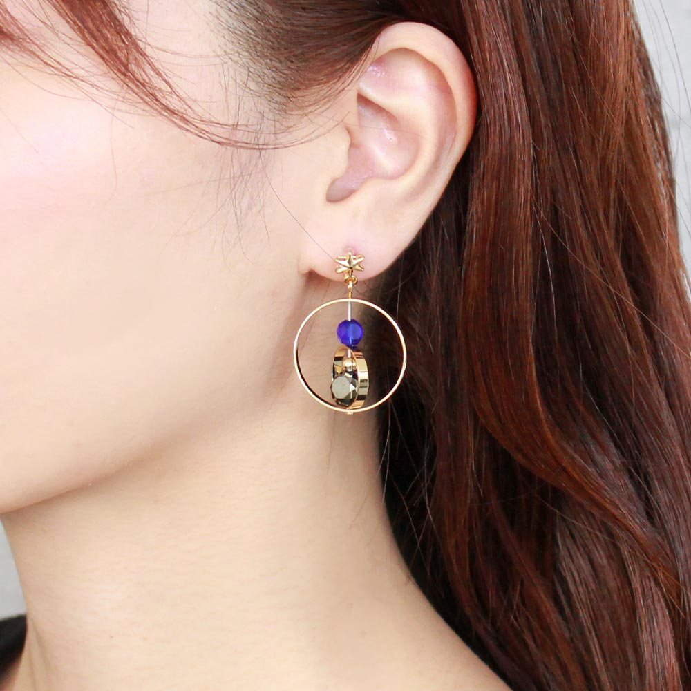 Aurora and Star Asymmetrical Invisible Clip On Earrings