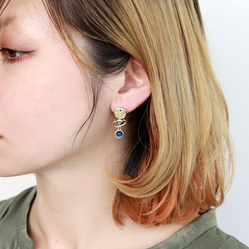 UFO and Planet Mismatch Earrings