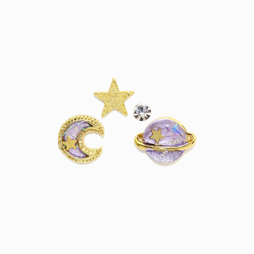 Galaxy Invisible Clip On Earring Set - osewaya