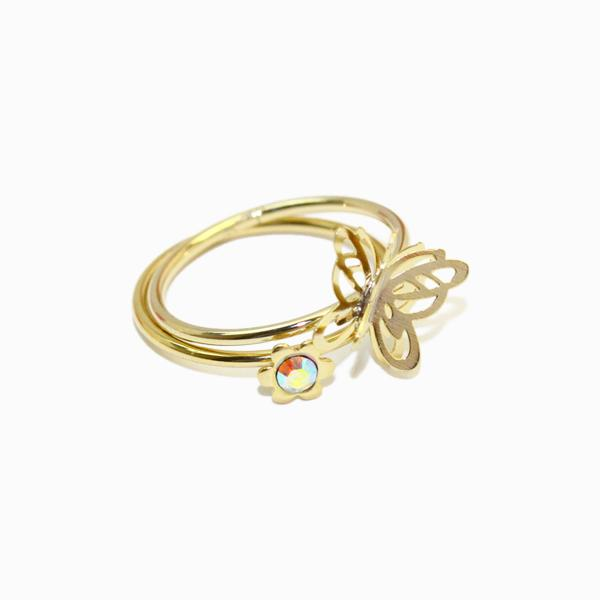 Openwork Butterfly Ring Set - osewaya