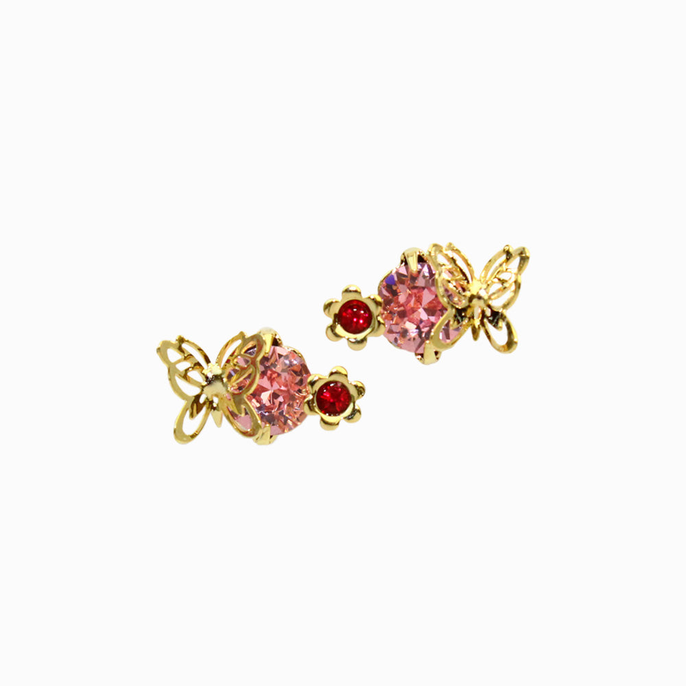 Openwork Butterfly Stud Earrings - osewaya