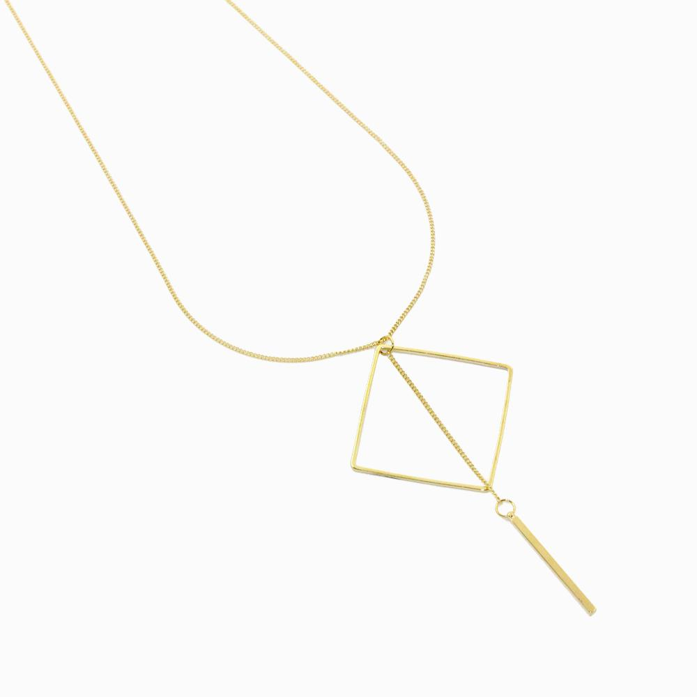 Long Rhombus Stick Necklace - osewaya