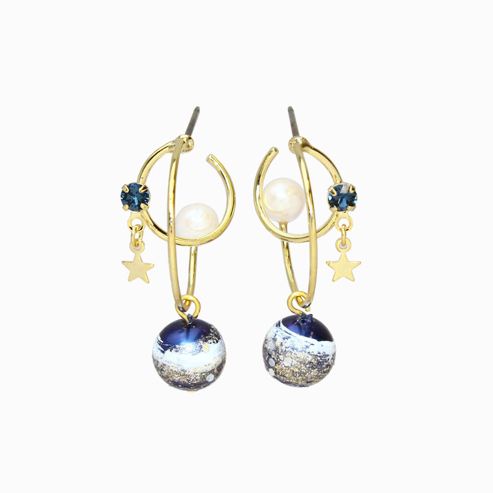 Romantic Star Orbits Earrings - Osewaya