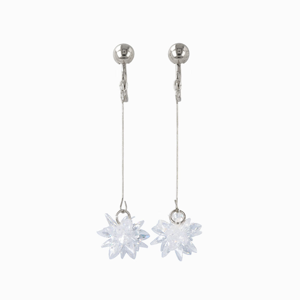 Snow Blossom Candy Drop Clip On Earrings - osewaya