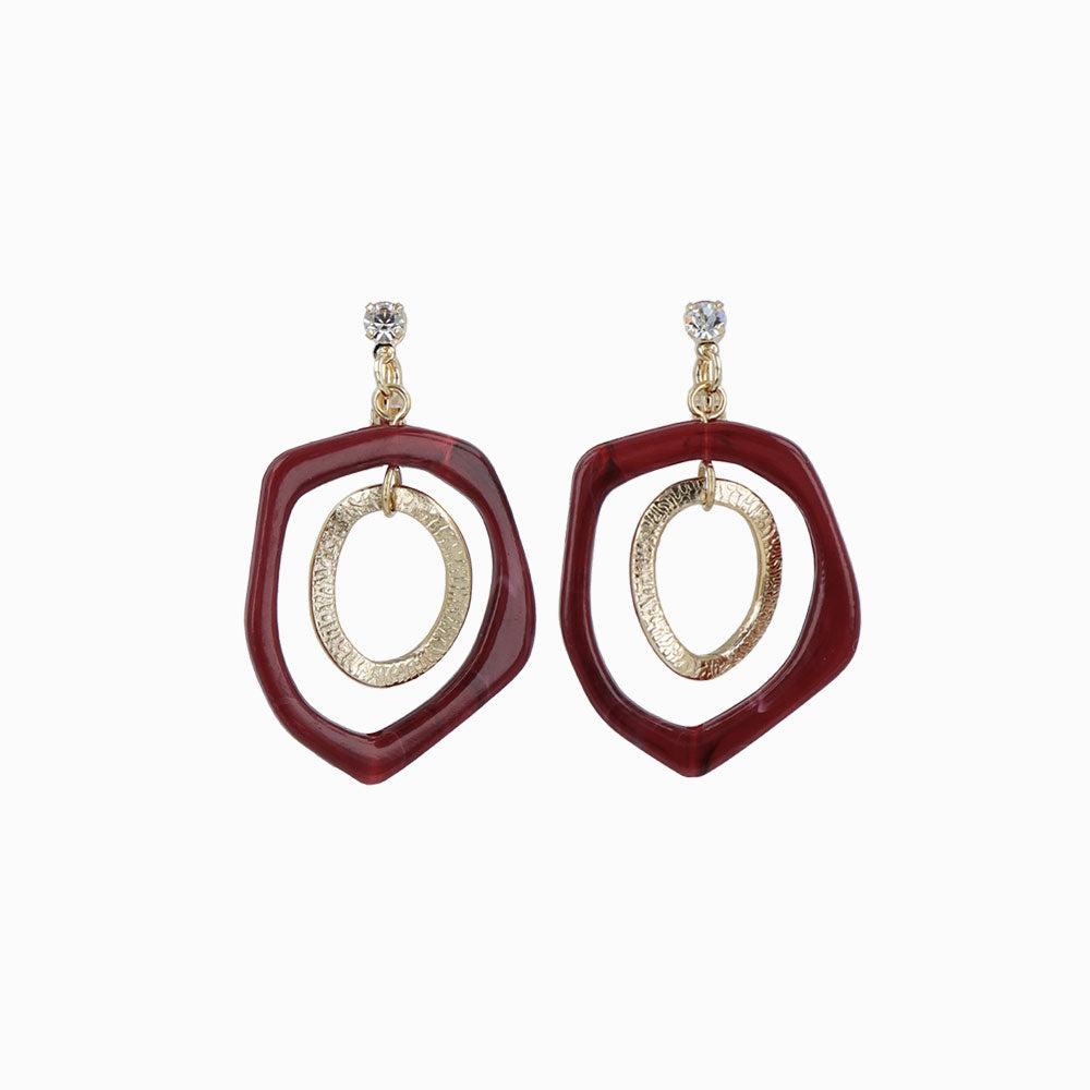 metallic circle Clip-On earrings - osewaya