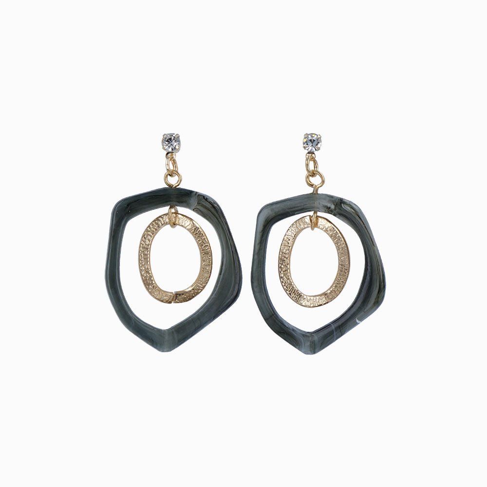 metallic circle Clip-On earrings