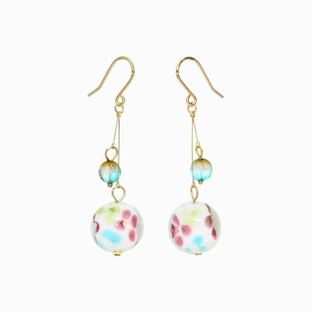Japanese Traditional Glass Bead Earrings