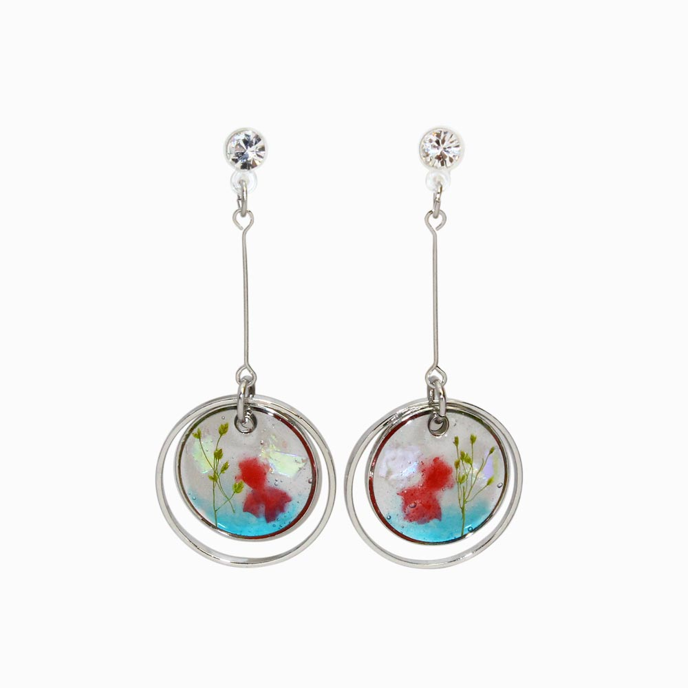 Goldfish Tank Invisible Clip On Earrings - osewaya