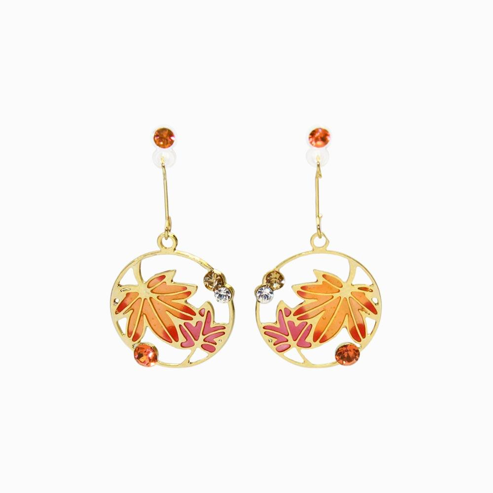 Momiji Openwork Invisible Clip On Earrings - osewaya