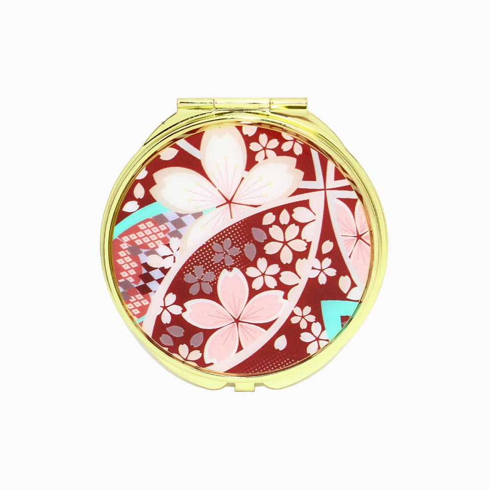 Japanese Pattern Compact Mirror