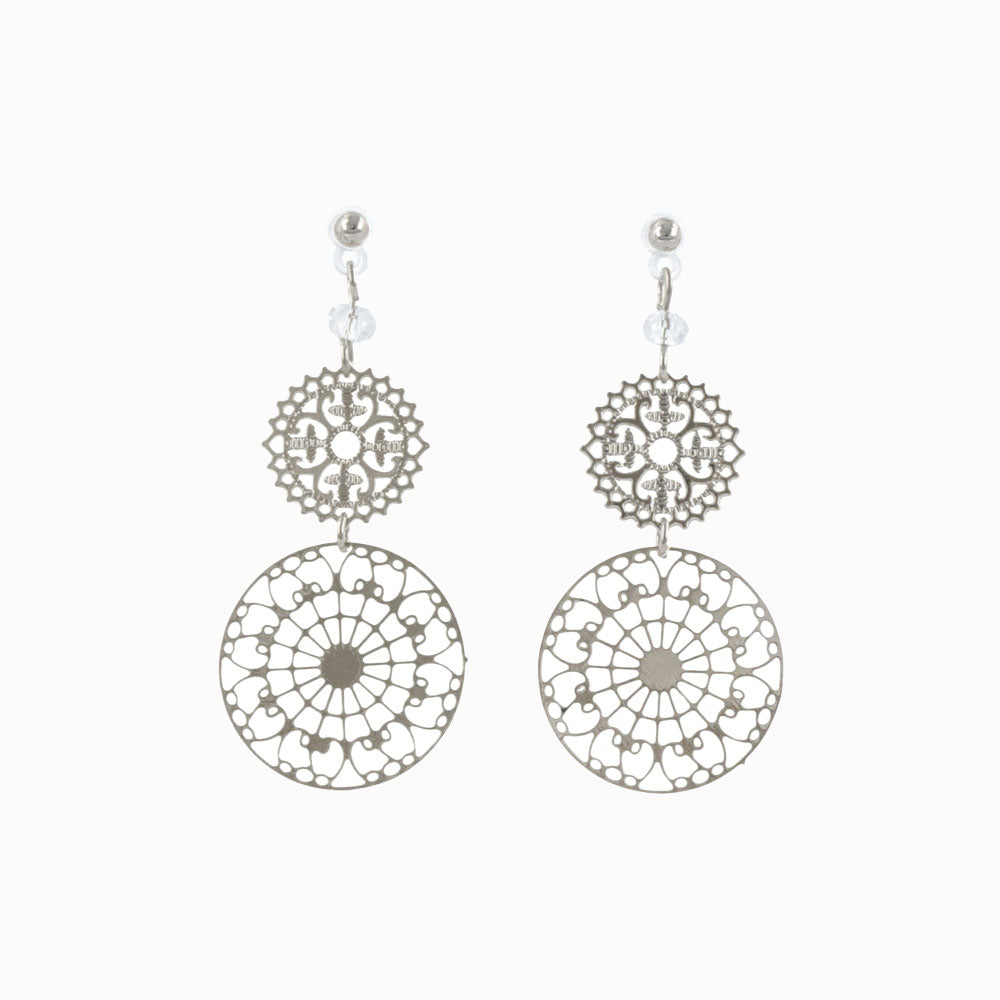 Plastic Arabesque Openwork Earrings