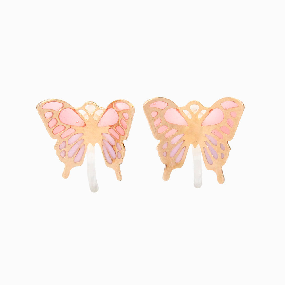 Butterfly Invisible Clip On Earrings