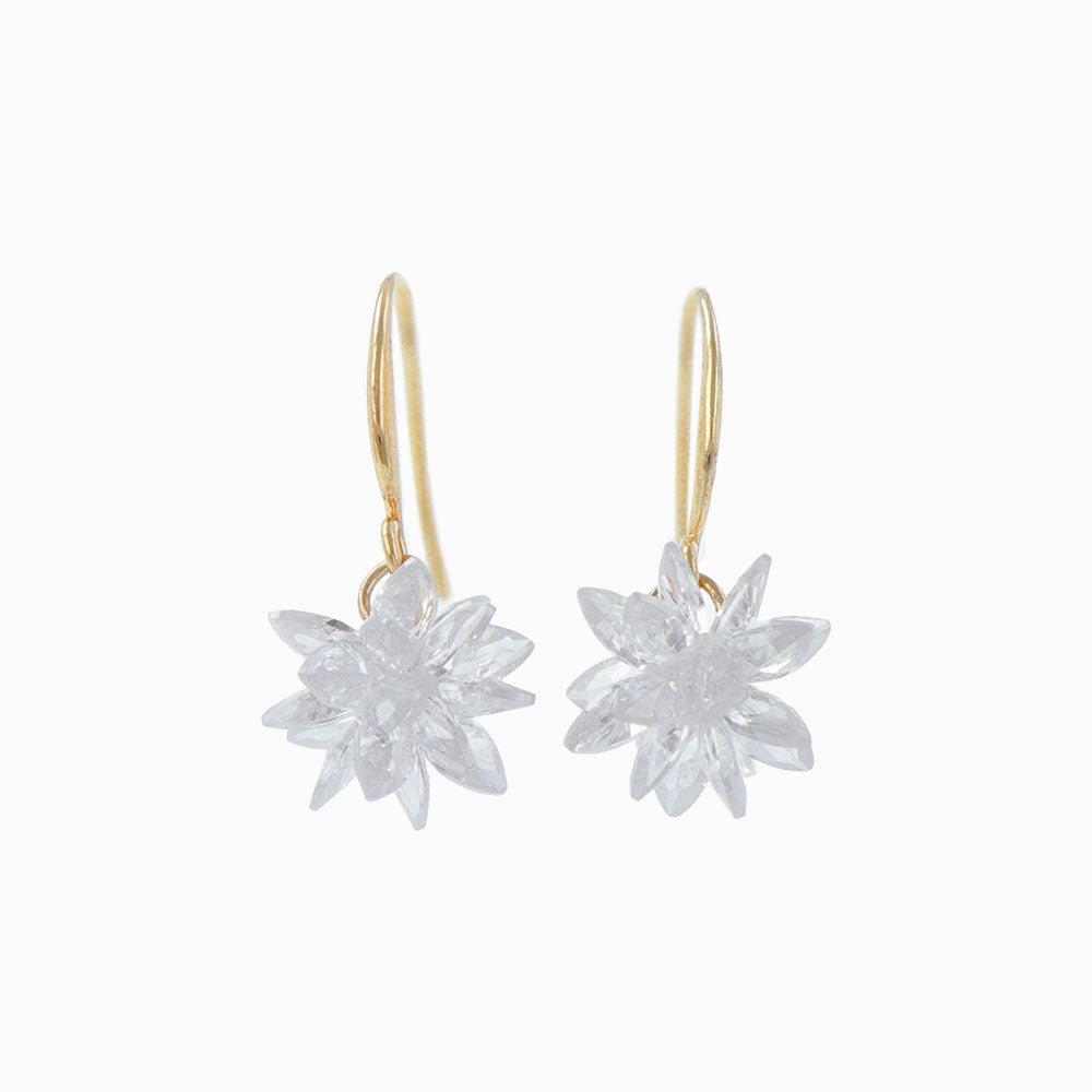 Snow Blossom Candy Hook Earrings - osewaya