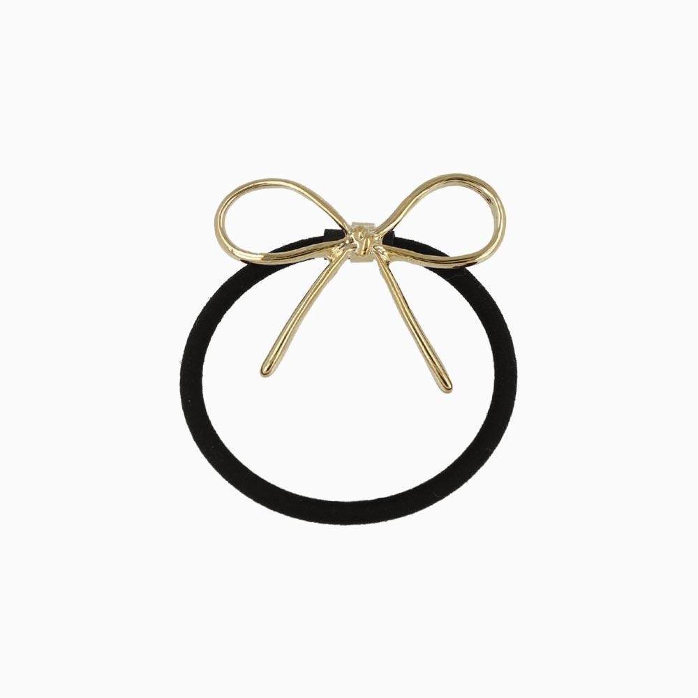 Metal Bow Tie Ponytail Holder - osewaya