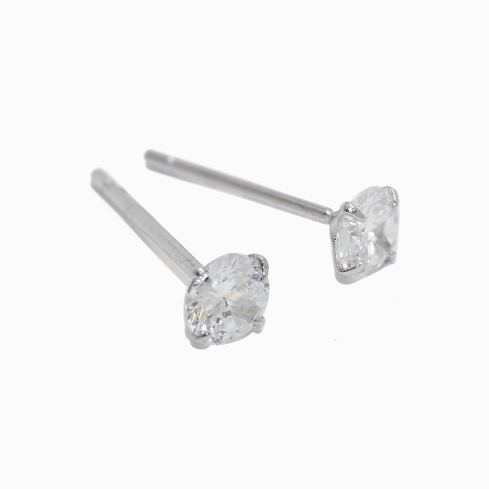 4mm Stone 925 Silver Studs