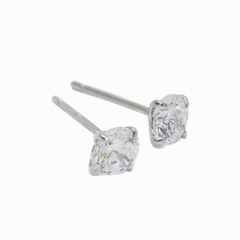 5mm Stone 925 Silver Studs