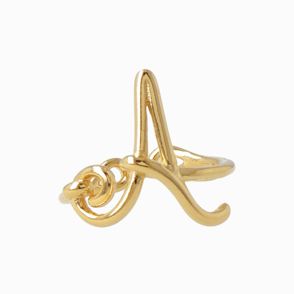 Initial Letter Ring in Gold - osewaya