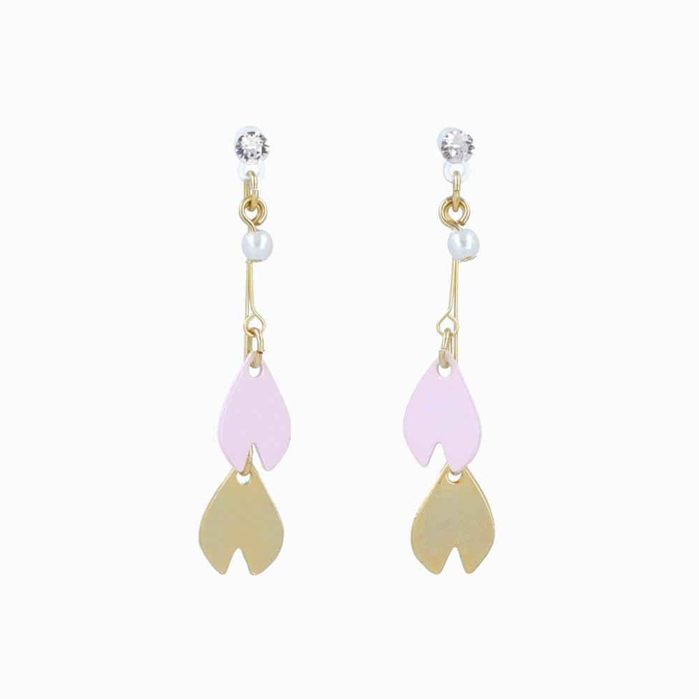 Japanese Sakura Petal Drop Plastic Post Earrings - osewaya