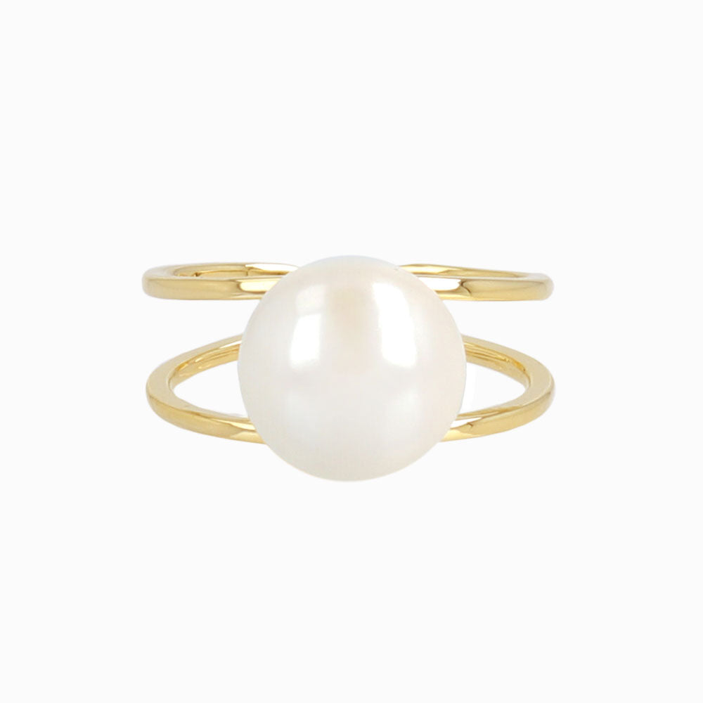 Double Stranded Pearl Ring - osewaya