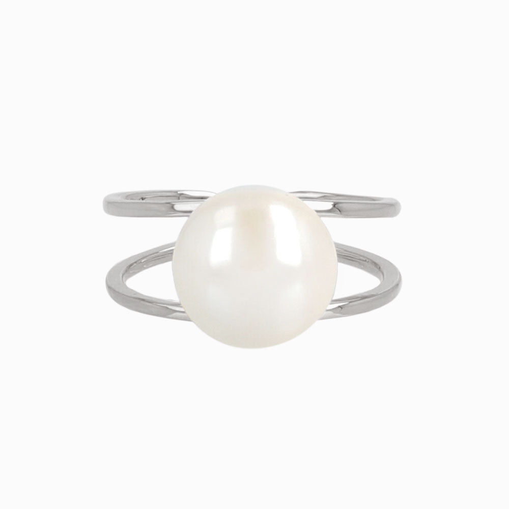 Double Stranded Pearl Ring