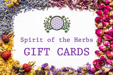 Spirit of the Herbs - Gift Cards