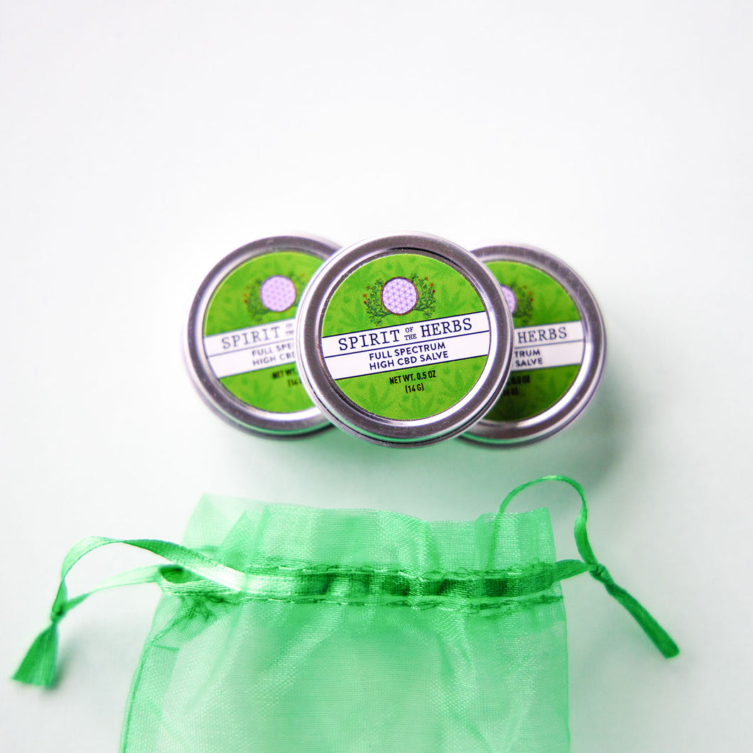 CBD Combo Pack - 3 Mini Healing Salve Tins