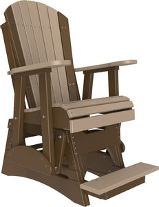 2' Poly Adirondack Balcony Glider Chair