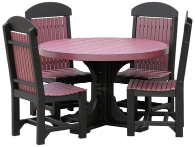 4' Round Table Set (table, 4 chairs)
