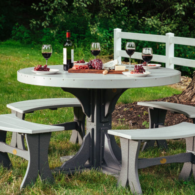 4' Round Table Set (table, 4 28