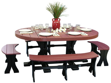 4x6 Oval Table Set (table, 2 28