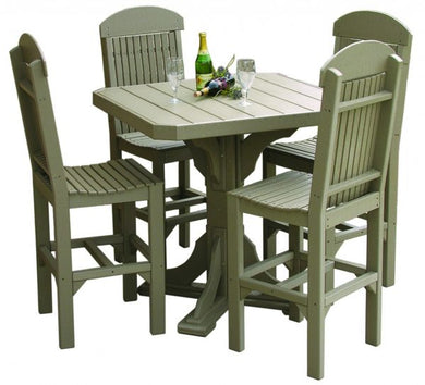 Square Table Set (table, 4 chairs)