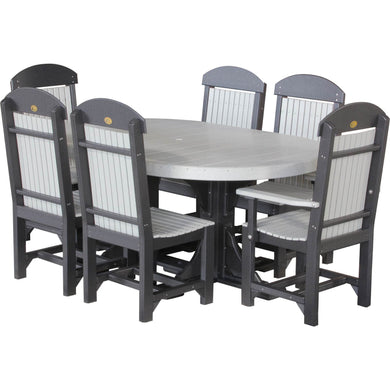 4x6 Oval Table Set (table, 6 chairs)