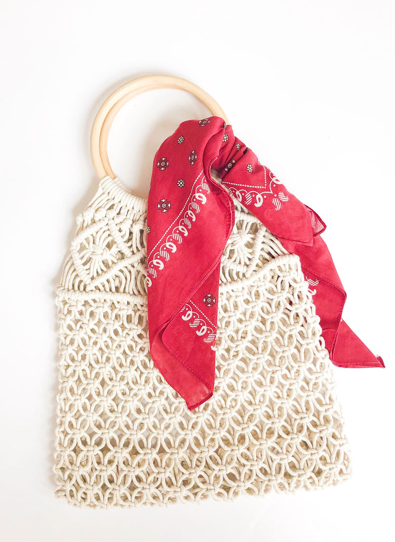 Full Of Roses Woven Tote