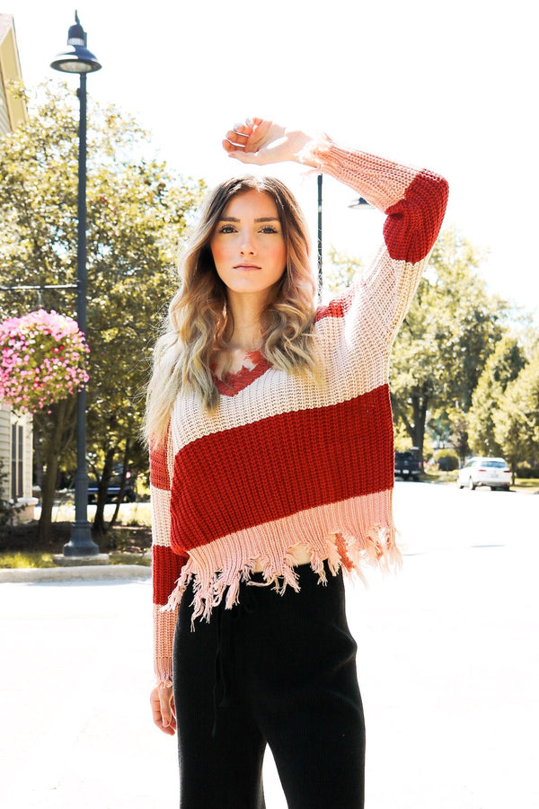 Jamie Color Block Sweater