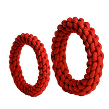 Load image into Gallery viewer, rompidogs rope toys red large and small