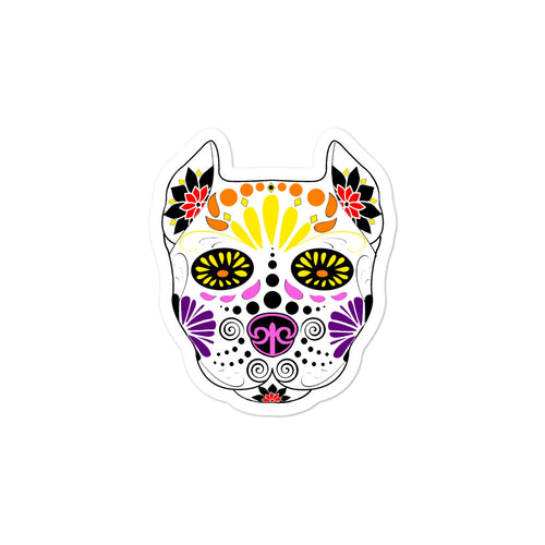 Sugar Skull Bubble-free stickers