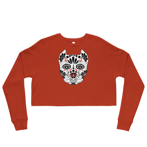 Sugar Skull Crop Sweatshirt