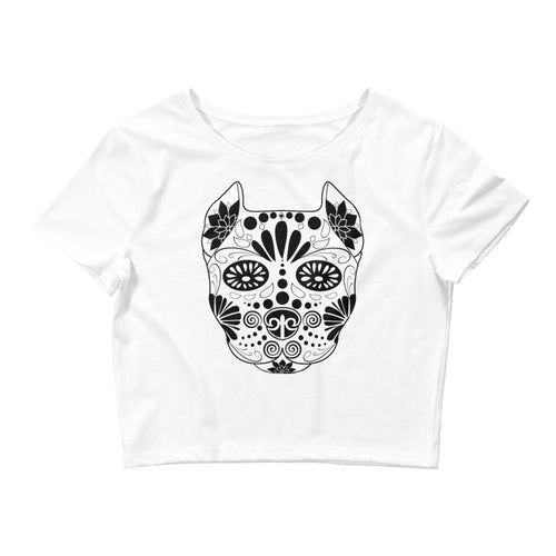 Sugar Skull Women's Crop Tee