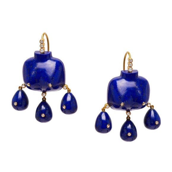 Aphrodite Earrings in Lapis Lazuli