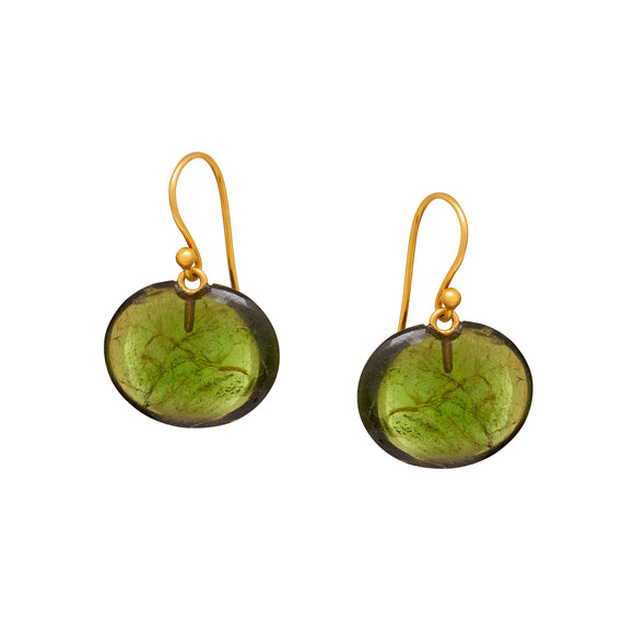 Arista Earrings in Peridot