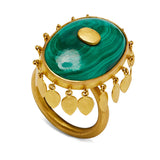 Ballerina Ring in Malachite