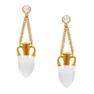 Amphora Rock Crystal Earrings