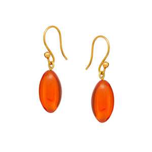 Angeliki Earrings in Fire Opal