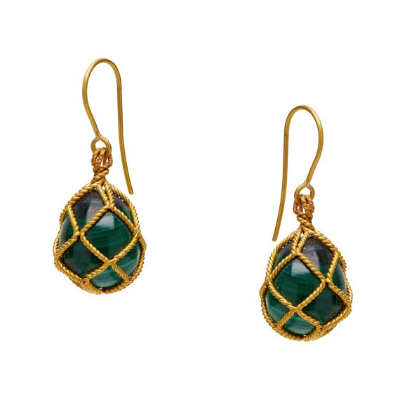 Electra Malachite Earrings