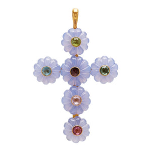 Rosa Cross in Chalcedony