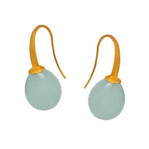 Plum Earrings in Aqua