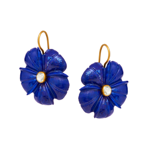 "Lethe ""forget me not"" Earrings in Lapis"
